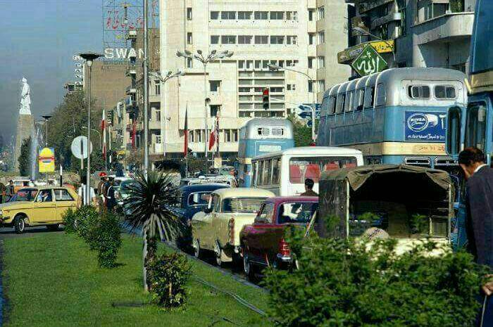 اتوبوس دو طبقه میدان فردوسی