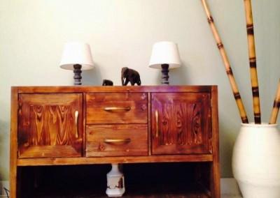 عکس کنسول چوبی