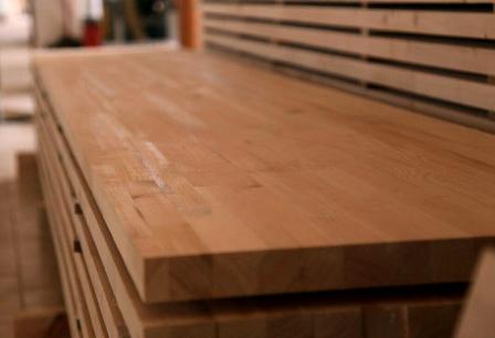 صفحه کابینت تمام چوب راش فینگر جوینت