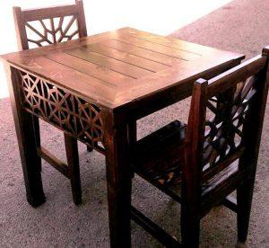 میز و صندلی ناهارخوری سنتی گره چینی و مشبک ایرانی