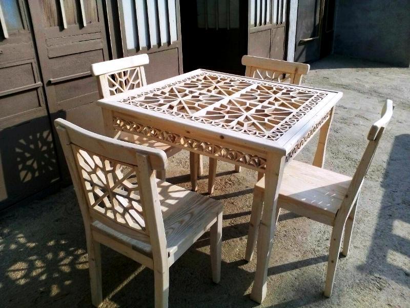 میز و صندلی گره چینی