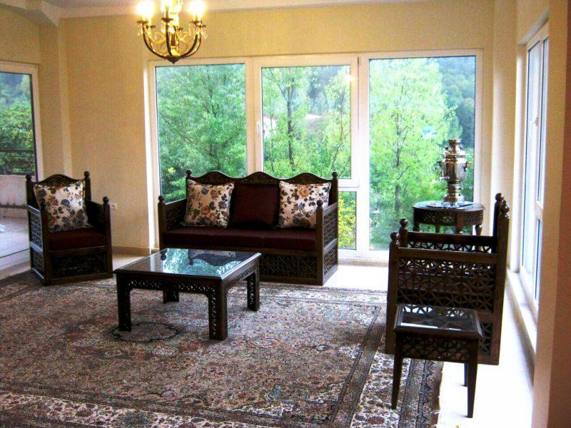 مبلمان سنتی ایرانی , گره چینی , کاناپه ایرانی سنتی تمام چوب دست ساز