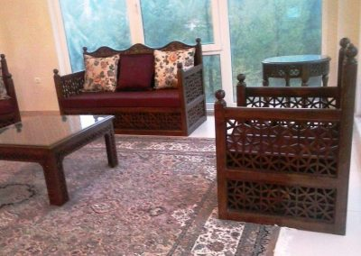 مبلمان ایرانی هندسی , کاناپه و مبل گره چینی
