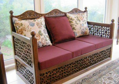 مبل ایرانی گره چینی , تخت سنتی , کاناپه ایرانی هندسی