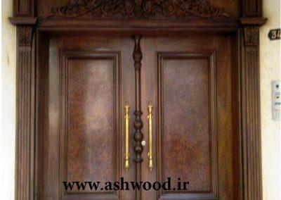 نمونه کار ساخت درب چوبی