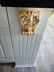 دکوراسیون چوبی منبت کلاسیک ایتالیایی , ویژه کابینت آشپزخانه تمام چوب