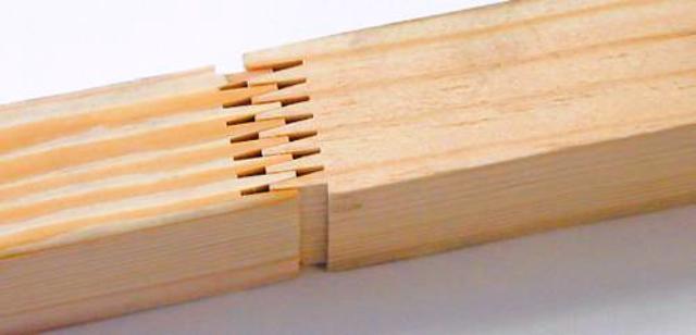 چوب راش فینگر جوینت