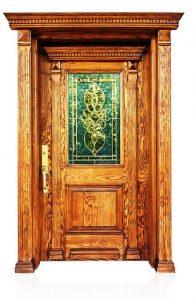 درب ورودی , دکوراسیون چوبی ساختمان