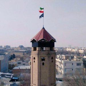 """برج """"یانقین"""" در تبريز به دنبال شهادت تعدادی از آتش نشانان"""