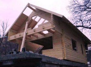 ساخت کلبه چوبی