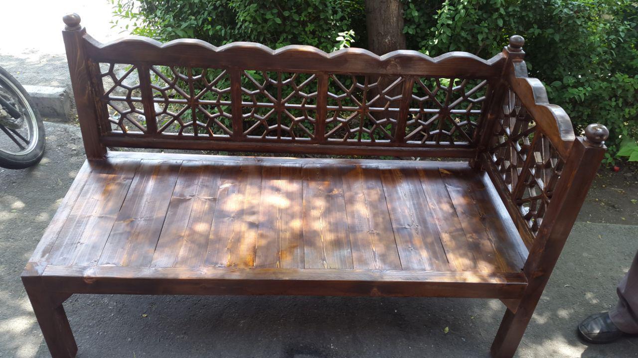 تخت و مبل سنتی ، گره چینی شده با چوب کاج روسیه و رنگ پلی استر ، کاناپه ، صندلی مبل تک و تخت باغی