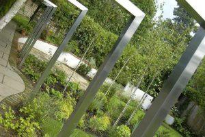 پروژه طراحی فضای سبز مدرن + آبنما