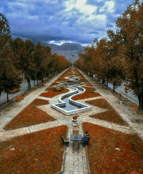 بلوار طاق بستان در کرمانشاه