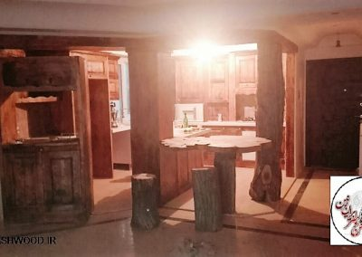 کابینت آشپزخانه سبک روستیک در کابینت آشپزخانه