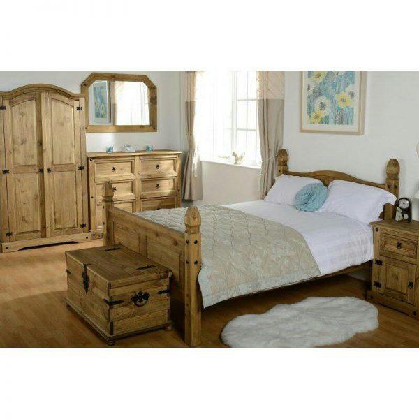 تخت خواب٬ تخت خواب چوبی٬ تخت خواب روستیک٬