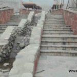 سنگ کاری . اجرای اجر کخصوص کف و دیوار برای دکوراسیون خارجی