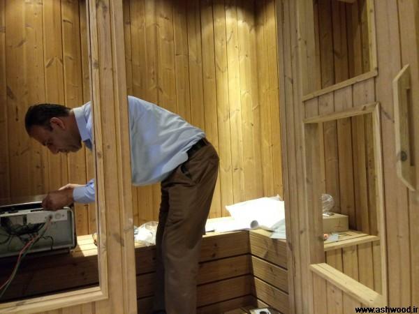 ساخت سونا با چوب ترمووود - سعادت آباد تهران