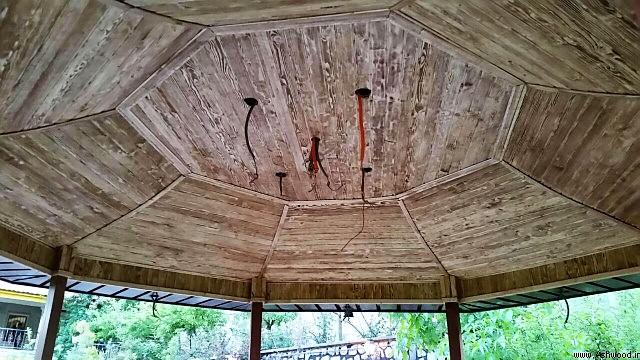 اجرای سقف آلاچیق , نصب آلاچیق