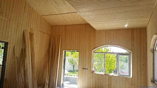 نمونه کار نصب لمبه چوبی , نصب لمبه چوب کاج روسی , نصاب ترمووود