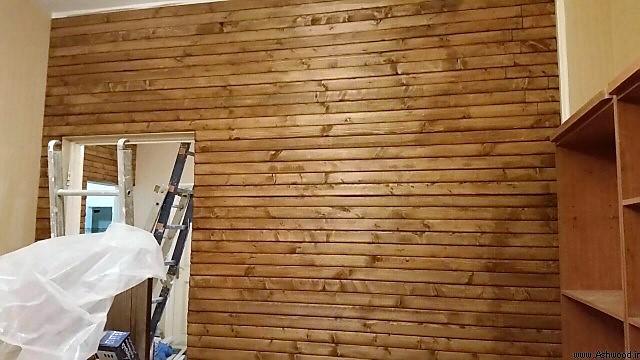 نصاب لمبه دیوارکوب چوبی