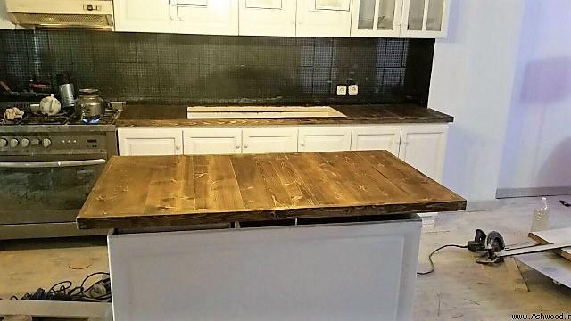صفحه میز آشپزخانه از چوب کاج روسی