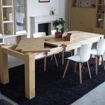 میز ناهار خوری کم جا , میز ناهار خوری چوب بلوط