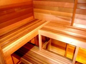 ساخت سونای خشک , دکوراسیون چوبی لمبه