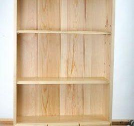 کتابخانه و قفسه چوب کاج