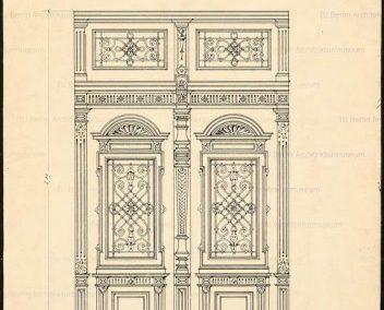 عکس درب چوبی کلاسیک , رسم درب چوبی و پنجره در پلان