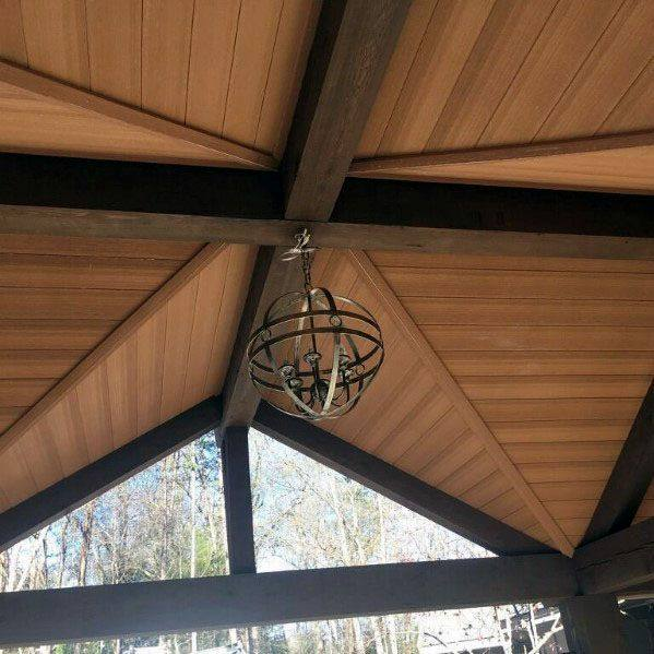 مدل های جالب سقف چوبی لوکس , 60 طرح سقف چوبی کاذب و لمبه چوب کاج بی نظیر از ایده های بروز 2020