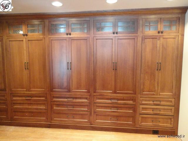 طراحی و چیدمان دکوراسیون داخلی ، ترکیب بندی کمدهای چوبی