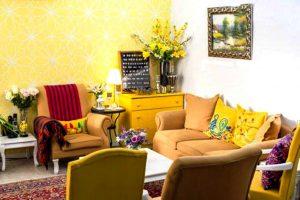 دکوراسیون زیبا به رنگ زرد