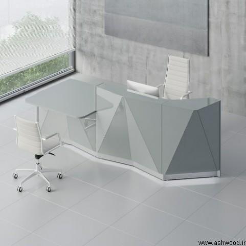 میز پذیرش کانتر , میز لابی پذیرش کانتر دار سبک کلاسیک مدرن