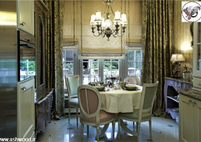 دکوراسیون کلاسیک بازسازی ، دکوراسیون آشپزخانه چوبی