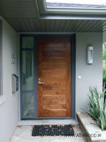درب چوبی روستیک