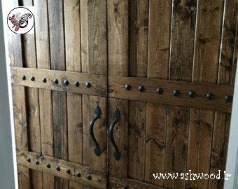 درب سبک روستیک ویلایی , درب چوبی سبک روستیک , درب چوبی سنتی