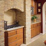 دکوراسیون آشپزخانه سبک روستیک , چوب و آجر