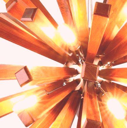 محصولات روشنایی و دکوراسیون جالب چوبی