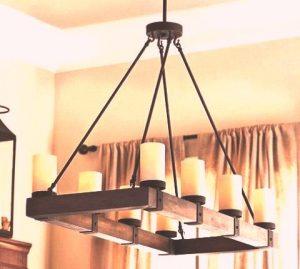 طراحی و ساخت لوستر با تخته و جاشمعی