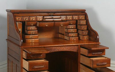 میز تحریر کلاسیک ایتالیایی چوب بلوط