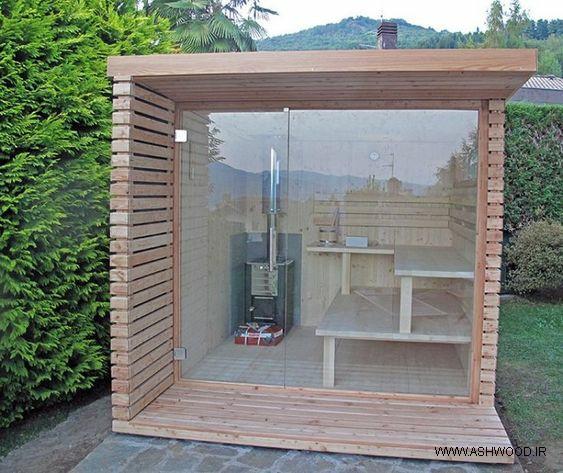 ایده های سونای خشک در فضای باز , طراحی و ساخت سونای خشک