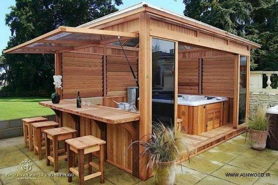 ایده و طراحی کلبه و ساختمان چوبی