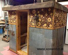 ایده های سونای خشک در فضای باز , طراحی و ساخت سونای خشک, کلبه چوبی