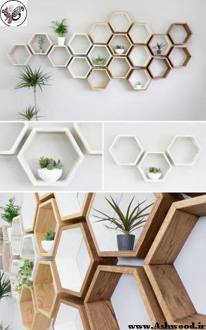 طراحی قفسه و شلف چوبی