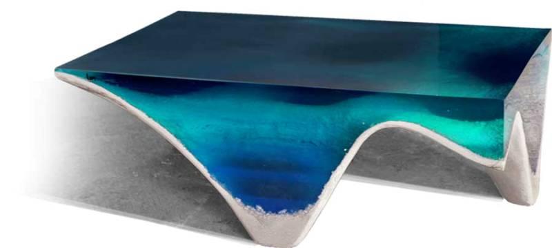 ساخت میز سه بعدی دل ماره با الهام از زیبایی اقیانوس ها