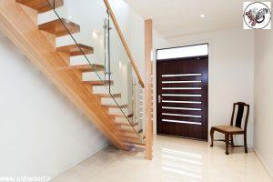 پله تک محور چوبی