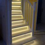 نور پردازی برای پله