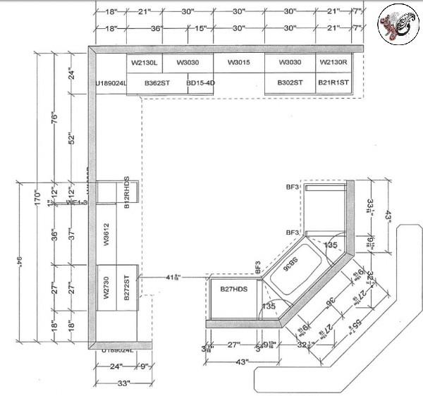 Groland Kitchen Island Dimensions: استاندارد آشپزخانه٬ دکوراسیون آشپزخانه٬ طراحی آشپزخانه