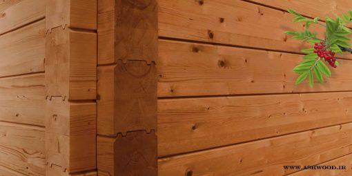 بدنه تمام چوب کلبه و ساختمان چوبی , خانه تابستانی