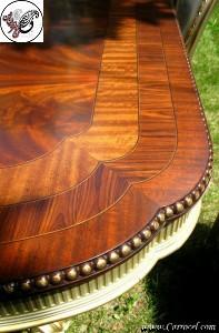 صفحه میز عتیقه چوب